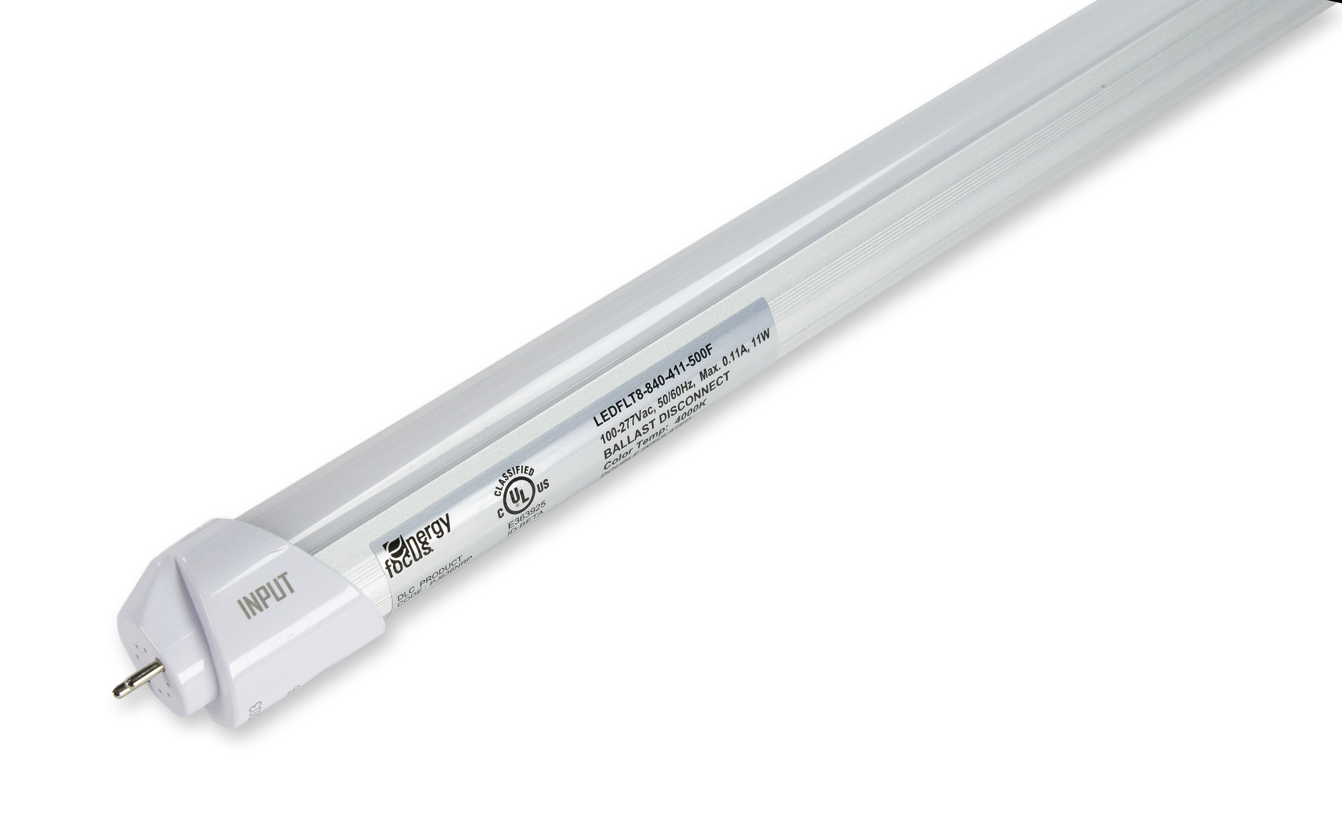 Energy Focus 500D Series LED Tube Side view