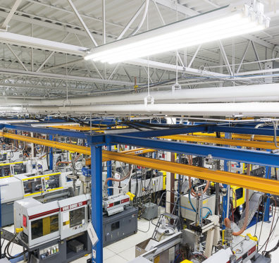 birds eye view of delta systems factory
