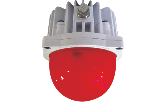 Energy Focus Large Red LED Globe
