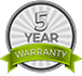 Energy Focus 5 Year Warranty Logo