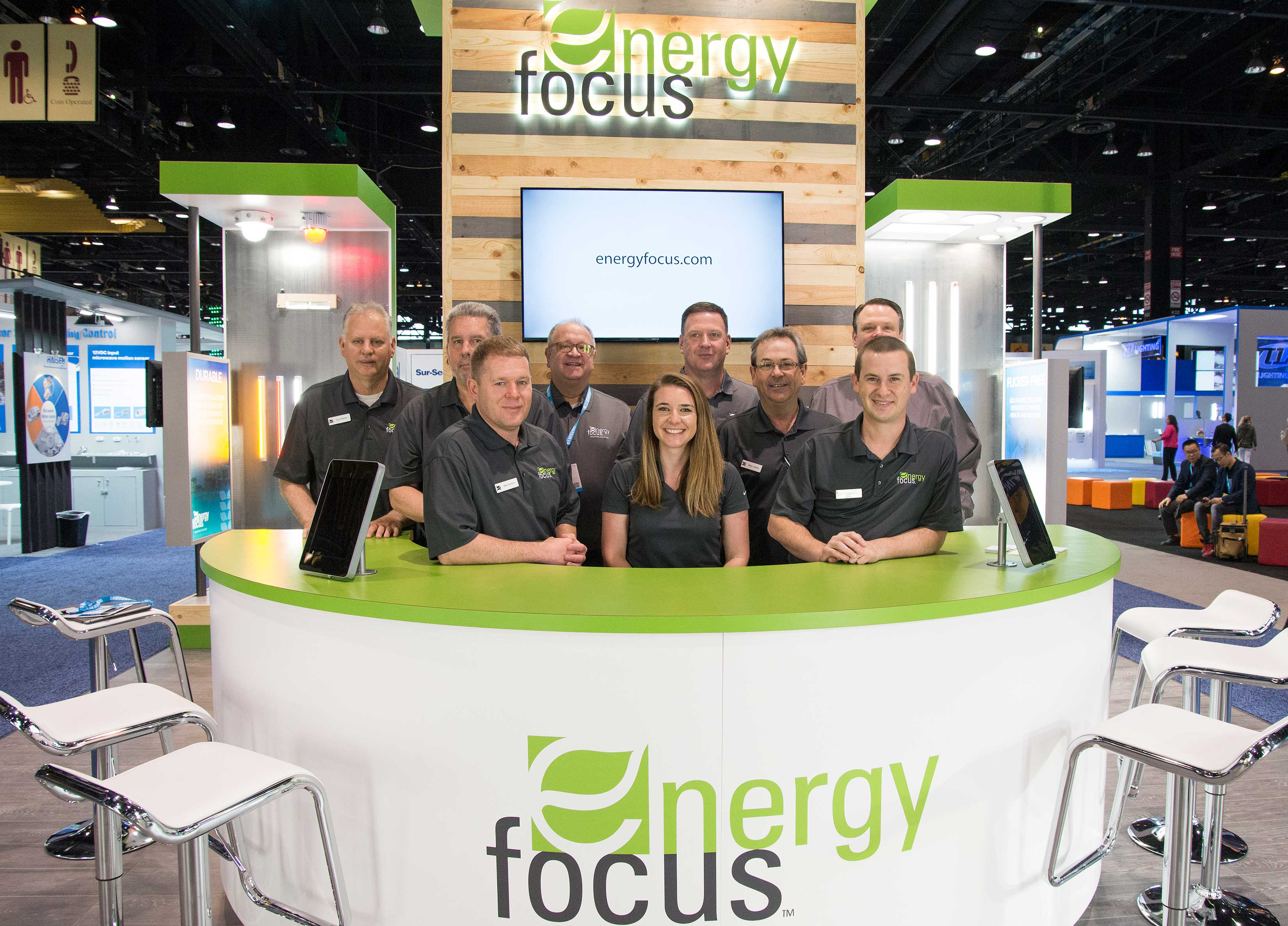 Energy Focus Team at LIGHTFAIR International 2018 Booth